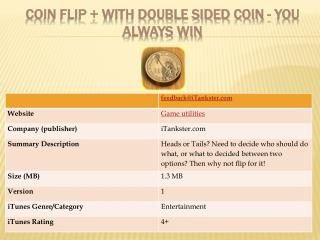 Coin Flip + With Double Sided Coin - You Always Win