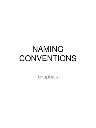 Naming Conventions