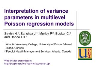 Interpretation of variance parameters in multilevel Poisson regression models