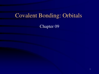 Covalent Bonding: Orbitals