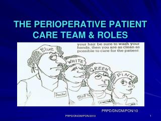 THE PERIOPERATIVE PATIENT CARE TEAM & ROLES