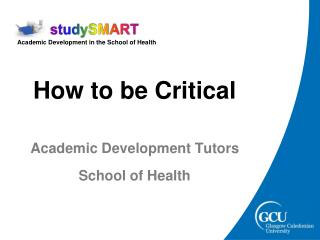 How to be Critical