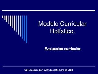 Modelo Curricular Holístico.
