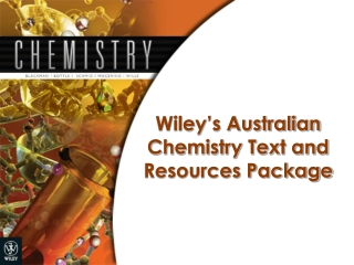 Wiley's Australian Chemistry Text and Resources Package