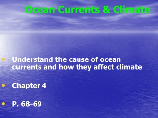 Ocean Currents & Climate