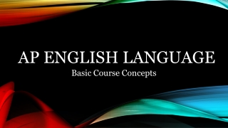A.P. English Language
