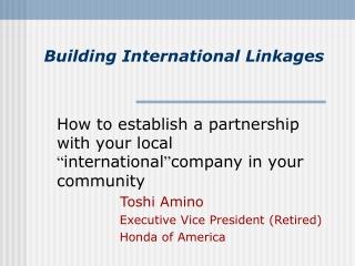 Building International Linkages