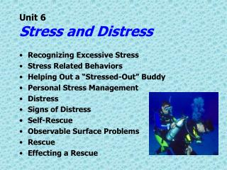 Unit 6 Stress and Distress