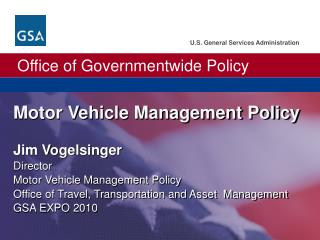 Motor Vehicle Management Policy