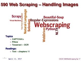 590 Web Scraping –  Handling Images