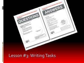 Lesson #3: Writing Tasks