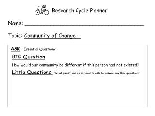 Research Cycle Planner