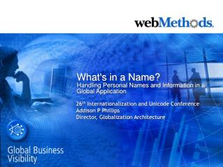 What's in a Name? Handling Personal Names and Information in a Global Application