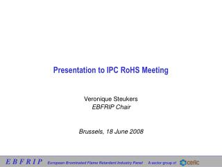 Presentation to IPC RoHS Meeting