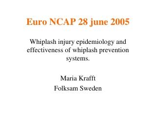 Euro NCAP 28 june 2005