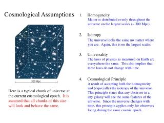 Homogeneity Isotropy Universality Cosmological Principle
