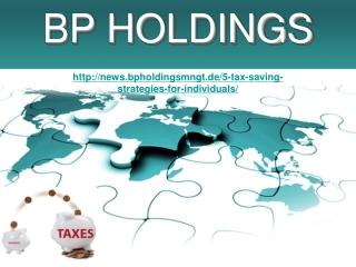 BP Holdings, 5 Steuern sparen Strategien für Einzelpersonen