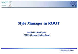 Style Manager in ROOT