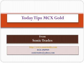 today tips mcx gold