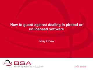 How to guard against dealing in pirated or unlicensed software