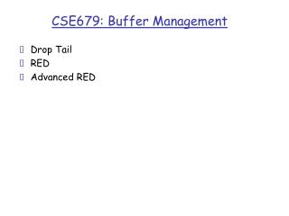 CSE679: Buffer Management