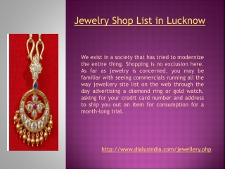 Jewelry Shops in Lucknow - Dial Us India