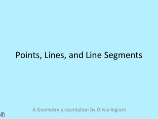 Points, Lines, and Line Segments
