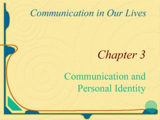 The Self Arises in Communication with Others