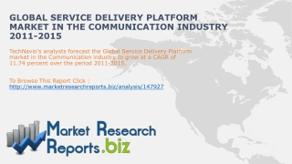 Global Service Delivery Platform Market in the Communication