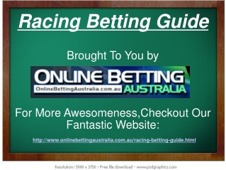 Racing Betting Guide
