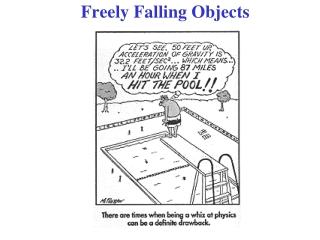 Freely Falling Objects