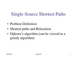 Single-Source Shortest Paths