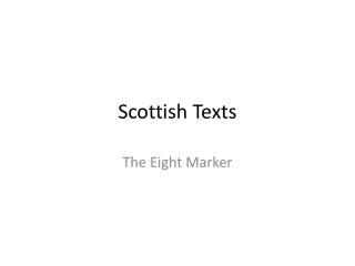 Scottish Texts