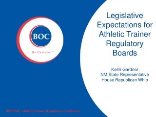 2009 BOC Athletic Trainer Regulatory Conference