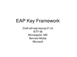 EAP Key Framework