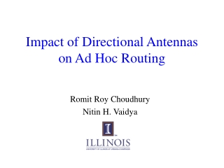 Impact of Directional Antennas on Ad Hoc Routing