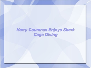 Harry Coumnas Enjoys Shark Cage Diving