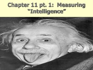"""Chapter 11 pt. 1:  Measuring """"Intelligence"""""""