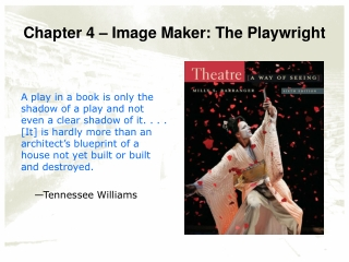 Chapter 4 – Image Maker: The Playwright
