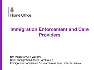 Immigration Enforcement and Care Providers