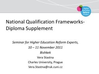 National Qualification Frameworks - Diploma Supplement