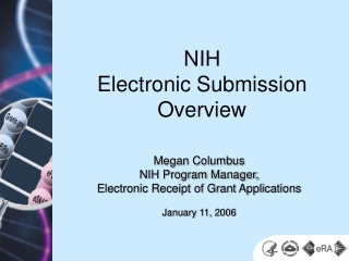 NIH Electronic Submission Overview