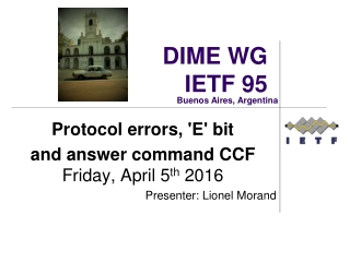 DIME WG IETF 95