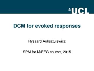 DCM for evoked responses