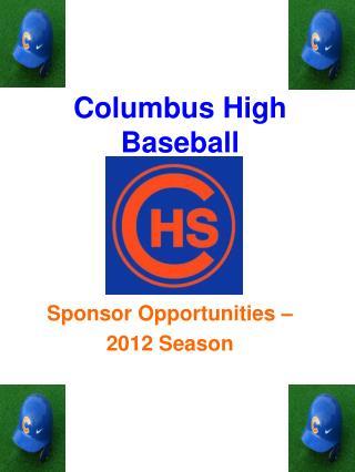 Columbus High Baseball