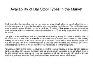 Bars Tools