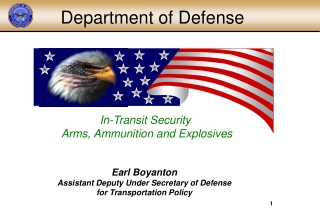 In-Transit Security Arms, Ammunition and Explosives