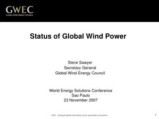 GWEC: Uniting the Global Wind Industry