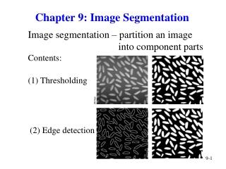 Chapter 9: Image Segmentation
