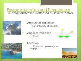 Energy Absorption and Temperature